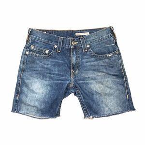 True Religion Originals Bobby Cut Off Denim Shorts
